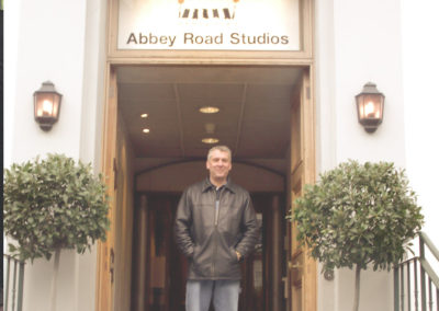 Got to attend a session at ABBEY ROAD in 2004!